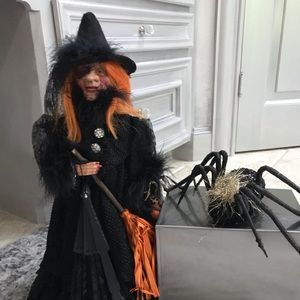 Halloween Witch and Spider Soft Sculptures